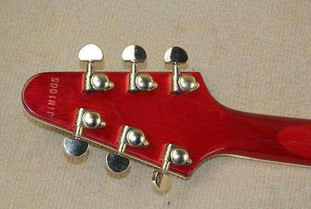 Free shipping Fiying V left-handed Wine red electric guitar left-handed electric guitar 0331 3