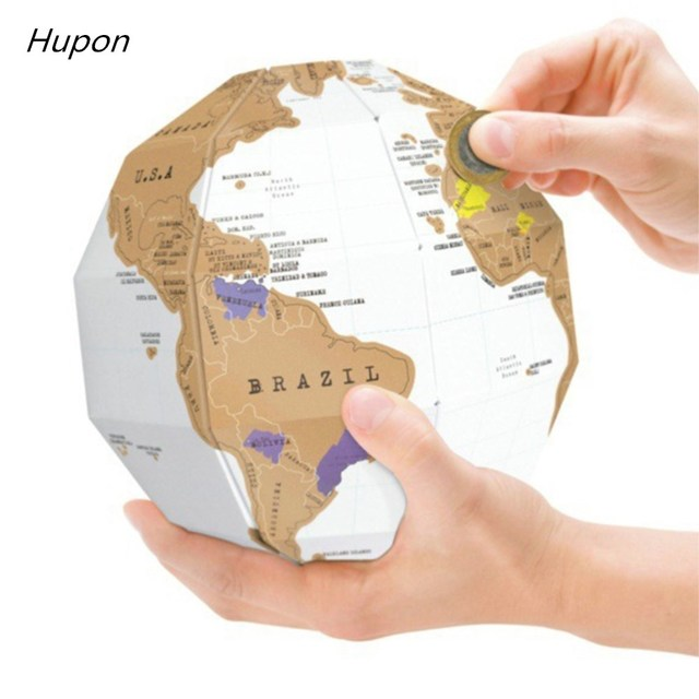 World Map Party Supplies.Mini Vintage World Map Birthday Party Decorations Kids Adult Scratch