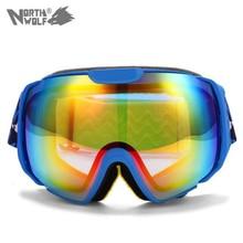 2015 Brand New Ski Goggles Double Lens UV400 Anti-Fog Big Spherical Professional Ski Glasses Unisex Multicolor Snowboard Goggles