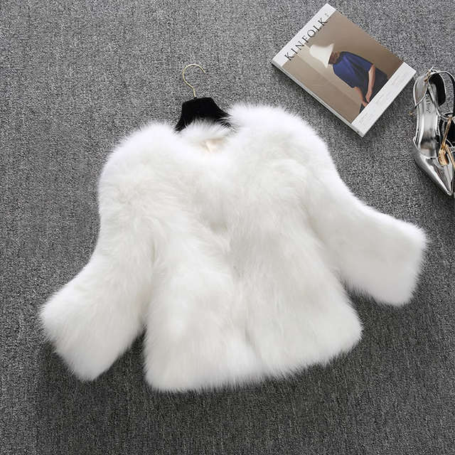 5f0cac5d34b placeholder Winter Womens luxury faux fox fur coats white furry jacket plus  size outerwear overcoat gilet capa