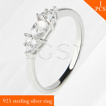 LGSY shining 925 sterling silver pearls multiple size 6/7/8/9 rings accessories jewelry for women