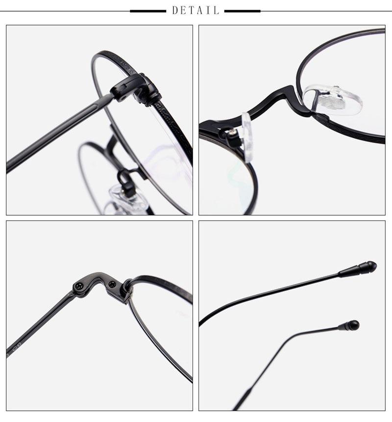 Runde Metall Brillen Frames Männer Frauen Brillen Optische Brillen ...