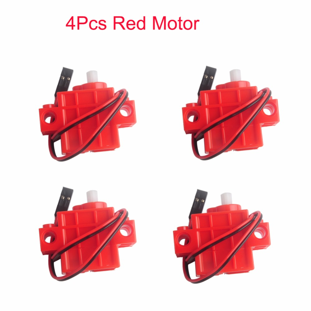 4Pcs Red Gear Motor For Geek Servo, For Micro:bit Robotbit LEGO Smart Car Makecode, For Kids Eduction MB0007