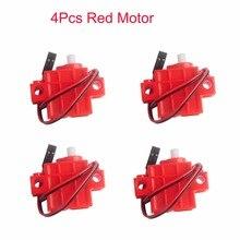4Pcs Red Gear Motor for Geek Servo, for micro:bit Robotbit LEGO Smart Car Makecode, for Kids Eduction MB0007
