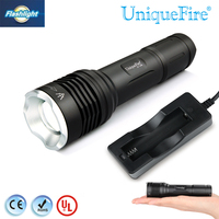 Uniquefire 1506 IR 940NM LED Zoomable Flashlight Black Small 3 Mode 20mm Convex Lens Invisible Led Torch+Charger