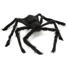 practical 29 giant spider plush spider red eye party horror props decoration toy halloween decoration