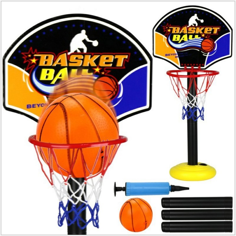 Outdoor Kids Sport Adjustable Portable tablet Basketball Stand Toy Set liftable Children Mini Basketball HoopBaby Ball sport