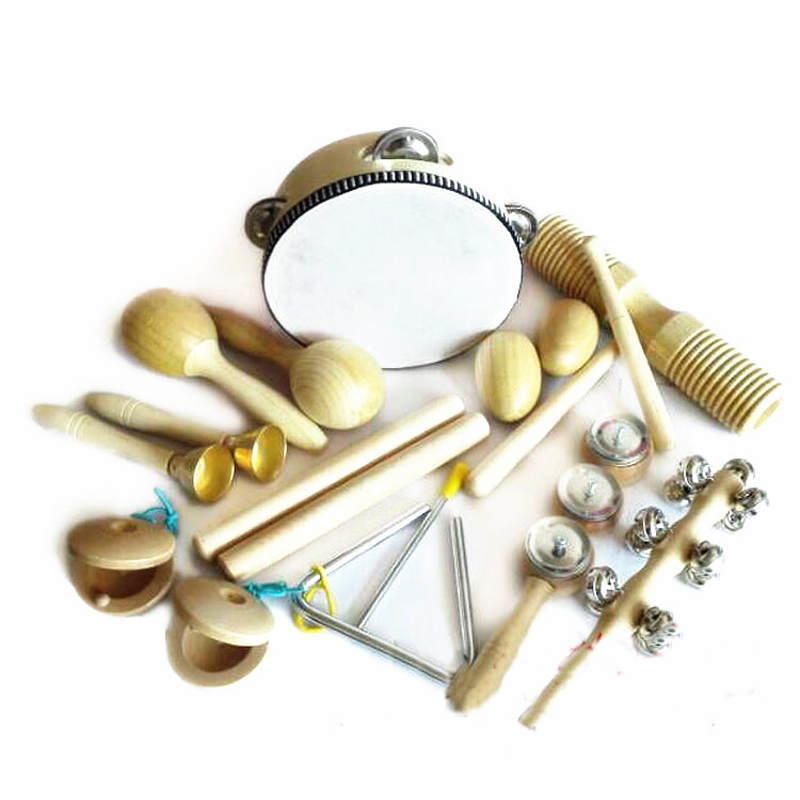10 typer Kids Instruments Kit Barn PreschooPercussion Musical Toy Instruments Set