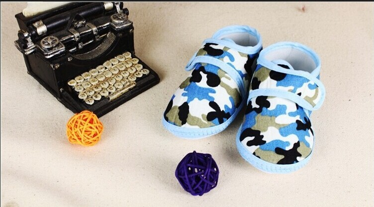 0 1 year old baby soft bottom toddler shoes/in spring autumn air camouflage antiskid shoes/ - love babys & Store store