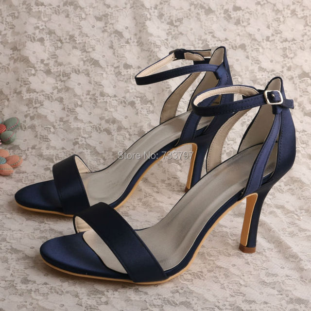20 Colors Navy Shoes For Wedding Sandals Summer High Heels