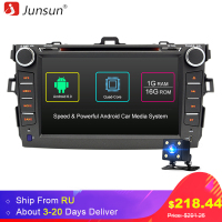 Junsun 8 2 Din Android 6 0 Car DVD For Toyota Corolla 2007 2011 Radio Autoradio
