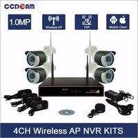 CCDCAM CCTV 4CH Wireless NVR Kit 1MP Wifi IP Camera Set 4CH NVR Kit 720P Security