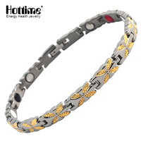 Hottime Jewelry Factory Wholesale Health Energy Infrared Magnet Women Style Classic Bio Magnetic Titanium Bracelet Sport