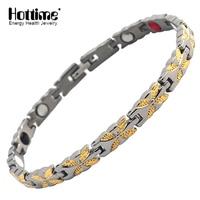 Hottime Jewelry Factory Wholesale Health Energy Infrared Magnet Women Style Classic Bio Magnetic Titanium Bracelet Sport