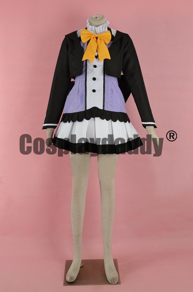 Otome Domain Hinata Ogaki Dress Game Cosplay Costume F006