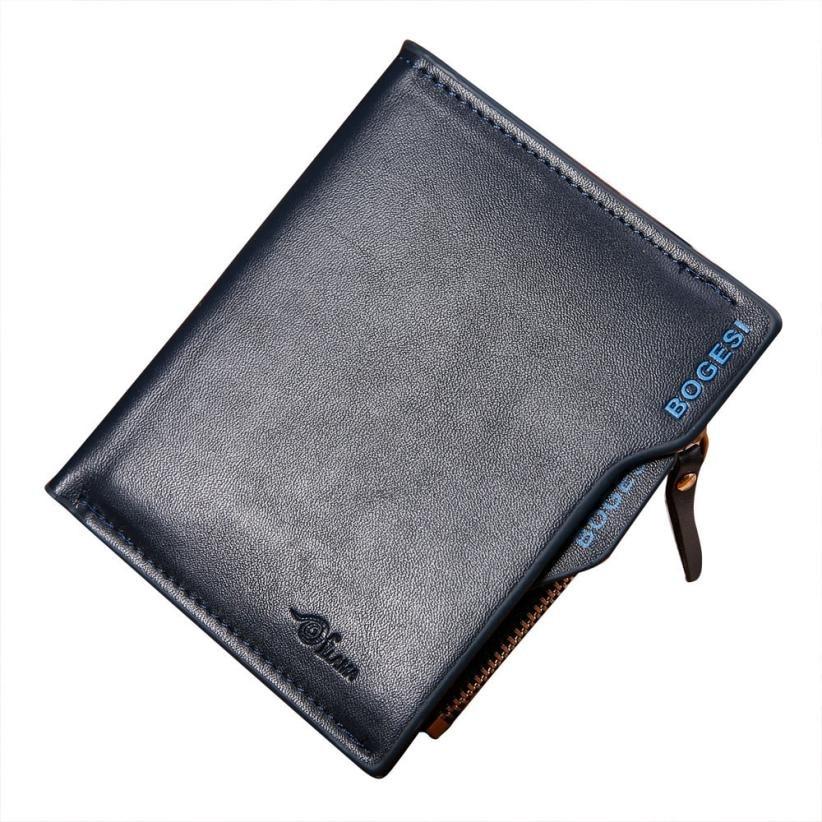 Hot Sale Men Leather ID credit Card holder Bag Fashion Solid Clutch Bifold Male Business Coin Purse Wallet Pockets stacy bag 122415 hot sale man hand bag men vintage envelope bag male clutch