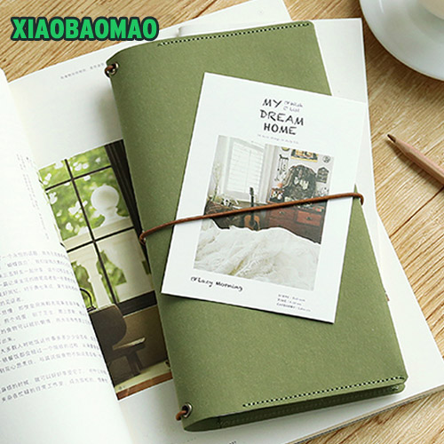 1Pc Retro Handmade Craft Paper Traveler's Notebook Schedule Book Diary Weekly Planner Notebook Copybook Cute Stationery freeshipping retro handmade stitching binding cloth covered notebook chinese style lotus printing notebook