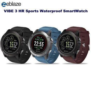 Zeblaze VIBE 3 HR Sports Smart Watch 1.22 Bluetooth 4.0 IP67 Waterproof Call Message Reminder Heart Rate Monitor Blood Pressure g6 tactical smartwatch