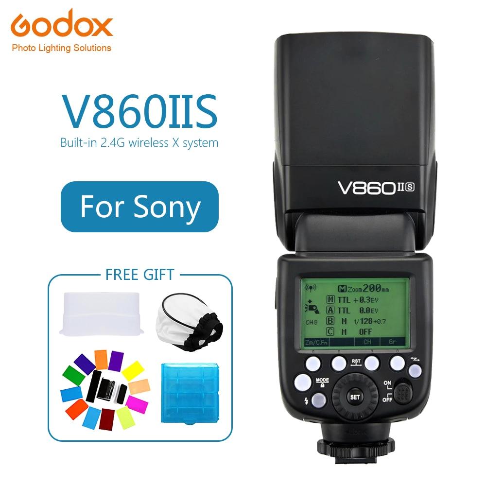 Godox Ving V860II V860II-S Speedlite flash TTL HSS 1/8000s 2.4G Wireless Camera photography for sony A7 A6000 A6500 A7RII A7RGodox Ving V860II V860II-S Speedlite flash TTL HSS 1/8000s 2.4G Wireless Camera photography for sony A7 A6000 A6500 A7RII A7R