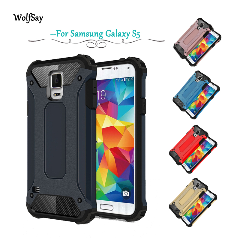 newest 583cd 76661 US $2.59 39% OFF|For Samsung Galaxy S5 Case Shockproof Armor Rubber Hard PC  Phone Case For Samsung Galaxy S5 Cover For Samsung S5 i9600 G900 <-in ...