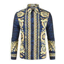 2018 New Summer Mens Long Sleeve Beach 3D Shirts Cotton Casual Floral Regular Plus Size 3XL clothing Fashion 212