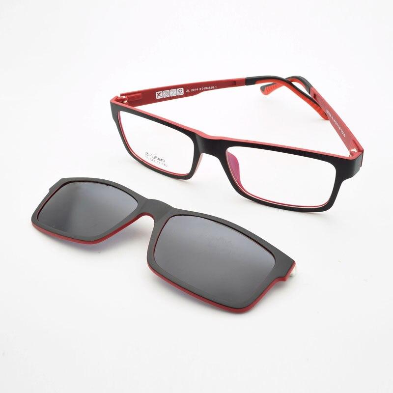 Cermin mata ultra-ringan Kaca Magnet klip Sunglasses Bingkai Myopia - Aksesori pakaian - Foto 2