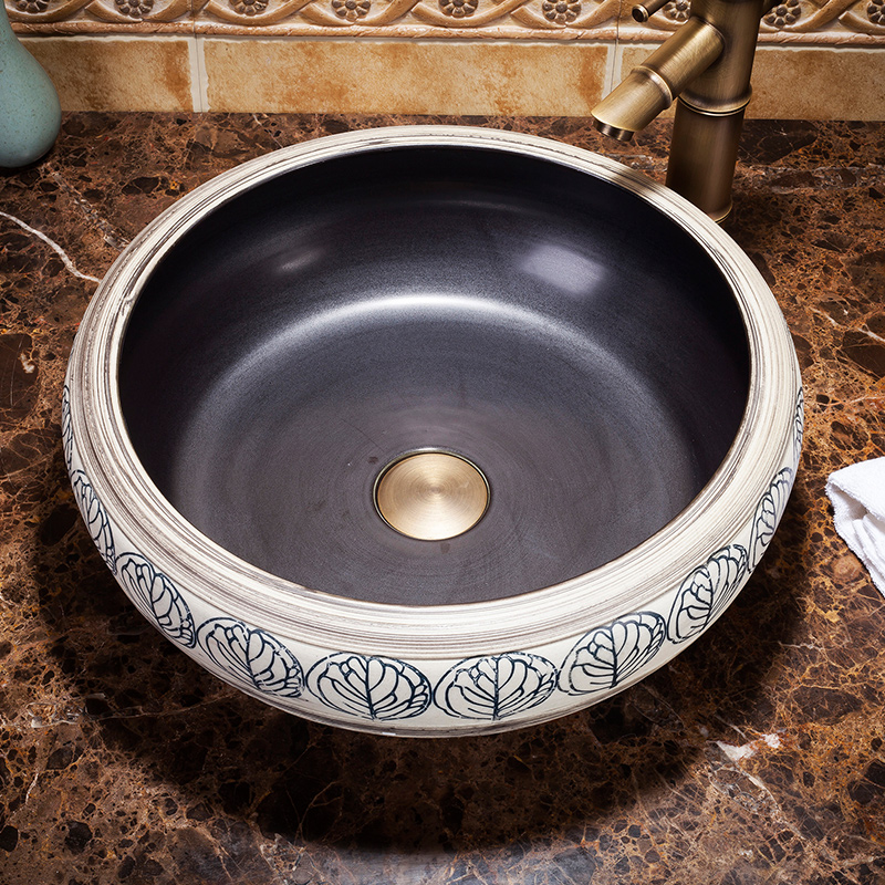 China Handmade Lavabo Washbasin Bathroom Sink Bowl Countertop Ceramic Wash Basin In Sinks From Home Improvement On Aliexpress
