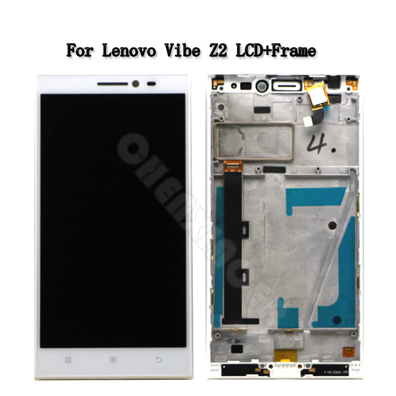 5.5inch High Quality For <font><b>Lenovo</b></font> <font><b>Vibe</b></font> <font><b>Z2</b></font> <font><b>LCD</b></font> <font><b>Display</b></font> <font><b>Touch</b></font> <font><b>Screen</b></font> Digitizer Assembly With Frame K920 mini Replacement Parts image