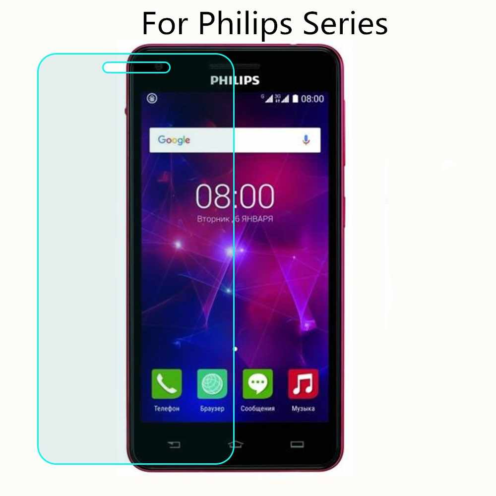 9H 2.5D Tempered Glass For Philips S318 S326 S327 Xenium S386 X588 V377 V526 Tempered Glass Screen Protective Film