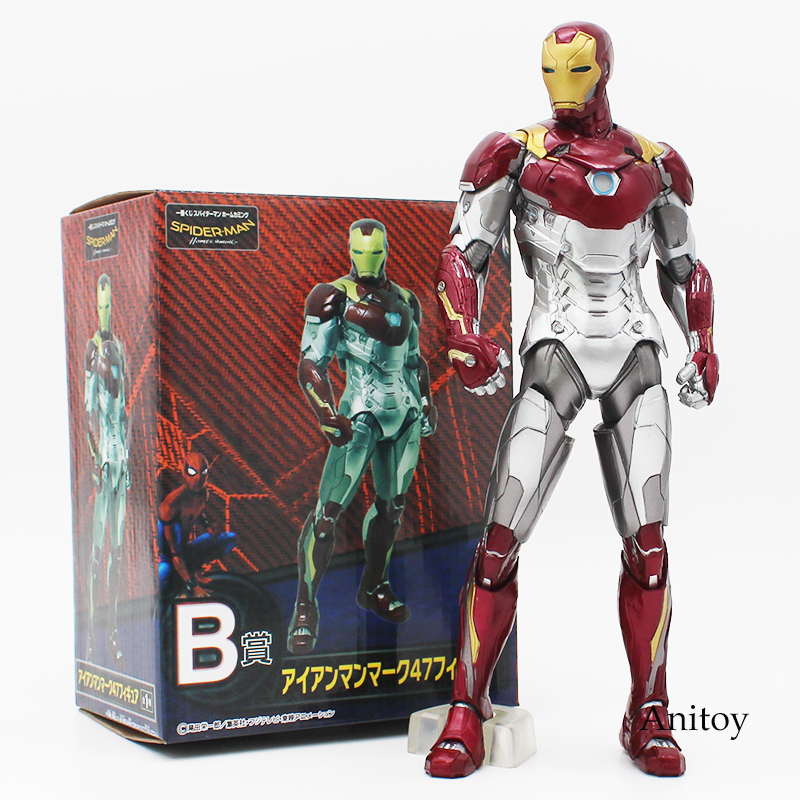 Spider Man Homecoming Spiderman Iron MK47 PVC Figure Collectible Model Toy With Retail Box 2 Styles In Action Figures From Toys Hobbies On