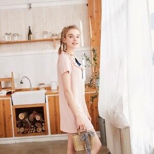 Image 2 - Metersbonwe şifon elbise kadın bahar kıyafet yeni stil mizaç sözleşmeli agaric kenar kısa kollu