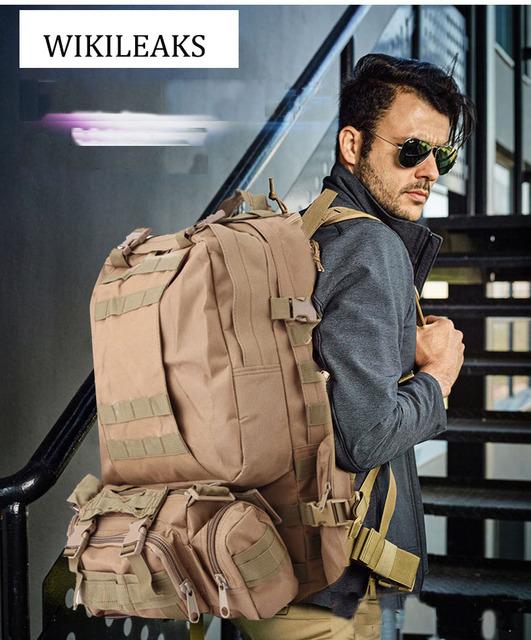 À prova d' água Saco Militar Do Exército Mochila Multifuncional Caminhadas Viagem Mochilas Camuflagem bolsa Duffle Sacos de Bagagem laptop DB140
