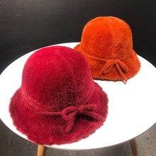 Outono Chapéu de Balde Chapéus de Inverno Além de Veludo Espessamento  Fashman Cap Quente Ao Ar Livre para As Mulheres 9d2de44ea1f