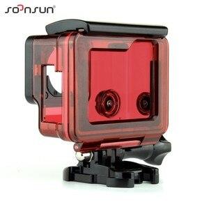 Image 2 - SOONSUN squelette boîtier Case côté ouvert housse de protection boîte avec trou creux porte arrière pour GoPro Hero 4 3 + pour Go Pro accessoire