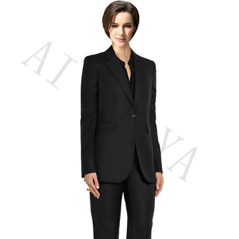 quality design 90a78 350c7 US $90.09 9% di SCONTO|Nuovo vestito di Pantaloni Delle Donne Vestiti di  Affari Blazer Nero Donna Ufficio uniforme Usura del Lavoro Formale Da Sera  ...