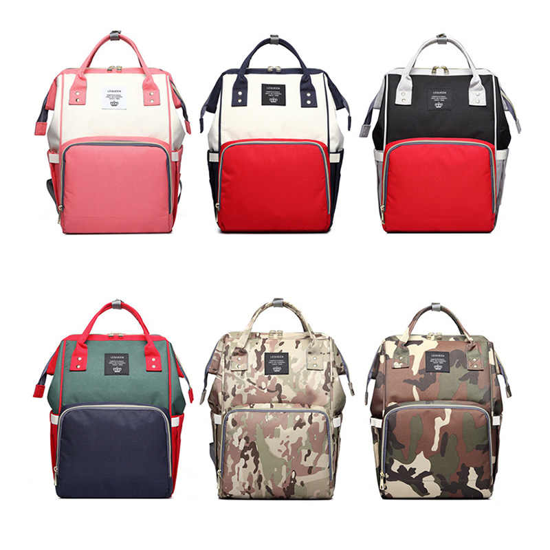 268e85a54 Nappy Backpack Bag Mummy Large Capacity Bag Mom Baby Multi-function  Waterproof Outdoor Travel Diaper