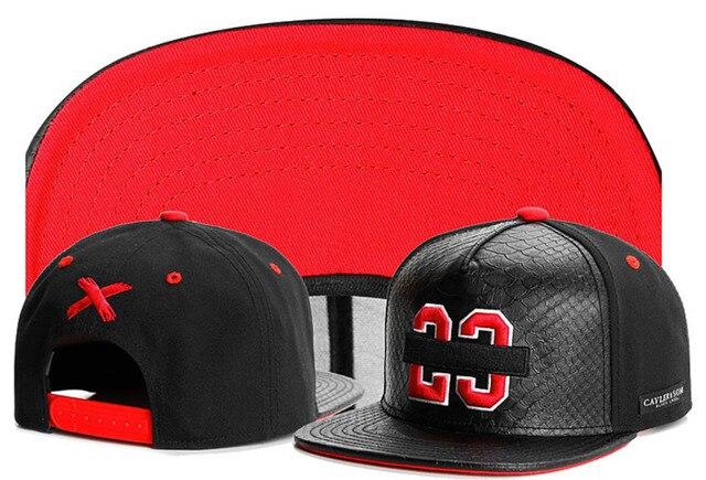5bceb8e8327 New 2015 Cayler   sons 23 Baseball caps Black leather sports hip hop cap  Cotton snapback hats for men women Summer Style hat