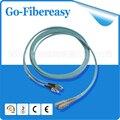 5 unids/lote FC-SC de Fibra Óptica Patch Cord Jumper Multimodo OM3 Aqua 10 concierto láser optimizado micrómetro 50/125 MM 3 M Núcleo Duplex