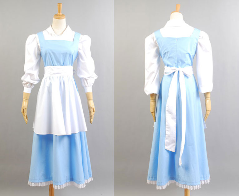 Adult Princess Belle Costume Beauty And The Beast Cosplay Costume