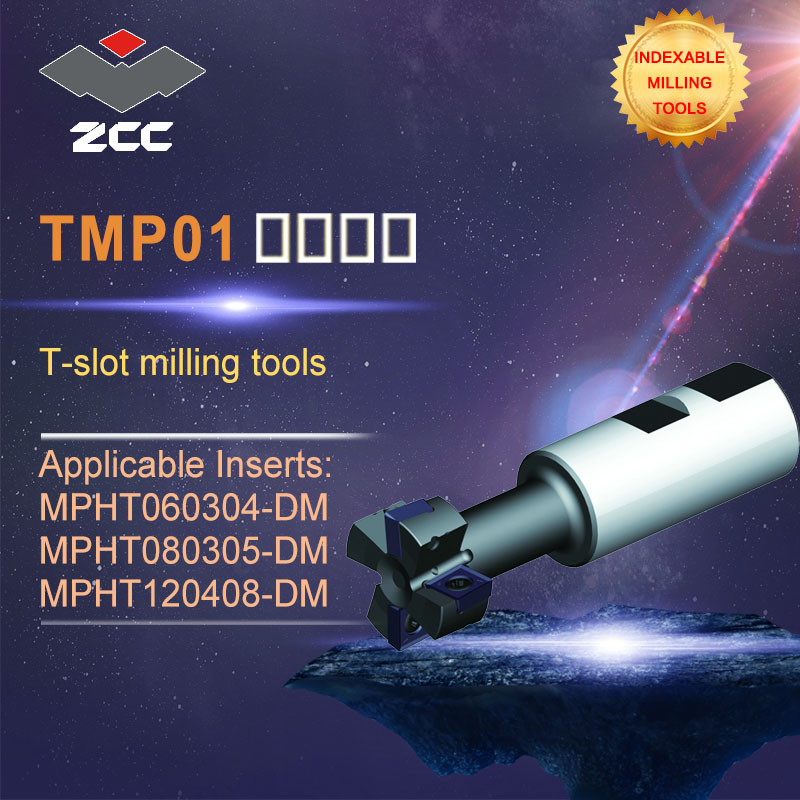 ZCC.CT original T-slot milling tools TMP01 high performance CNC lathe tools indexable milling tools face milling tools popular cnc lathe machining center indexable square shoulder milling tools holder with high precision pe05 17b32 100 08