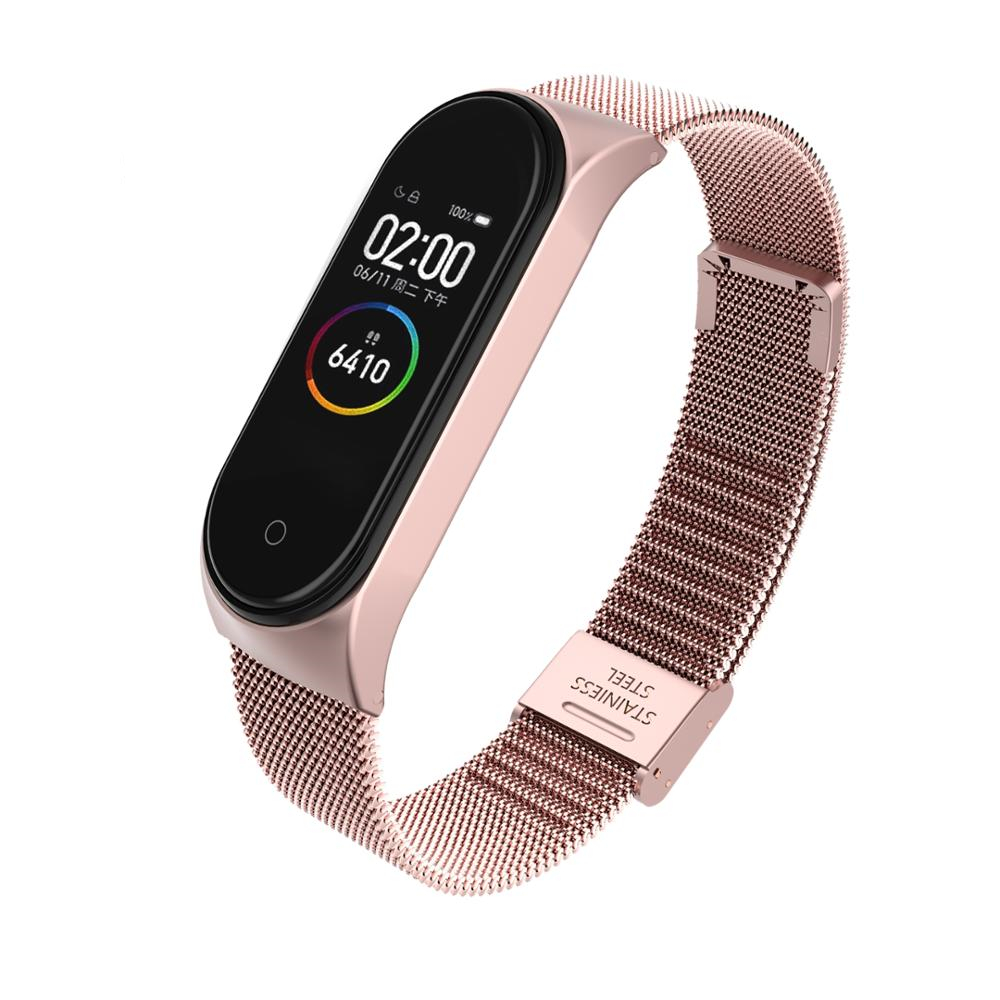 Mi Band 4 3 Wrist Strap Metal Screwless Stainless Steel Bracelet Miband 4 3 Wristbands Pulseira For Xiaomi Mi Band 4 3 Strap in Smart Accessories from Consumer Electronics