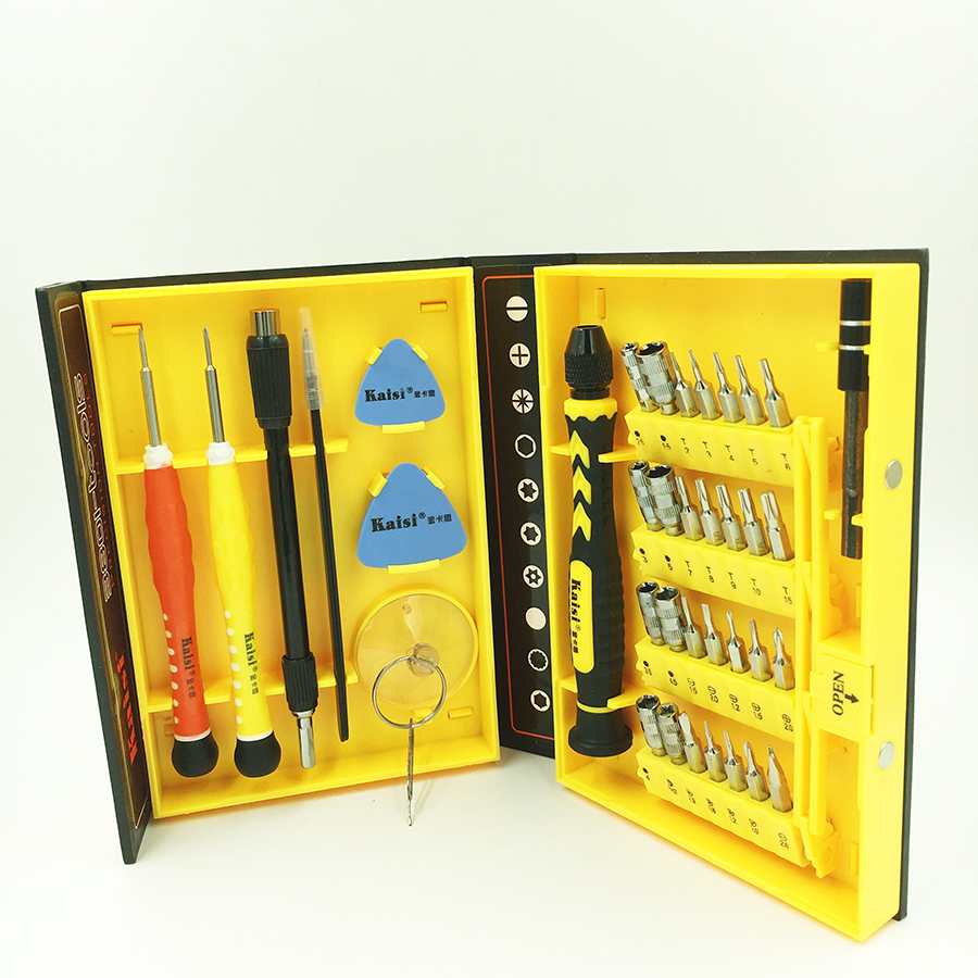 Kaisi 38 in 1 Screwdriver set kit magnetic torx screwdriver bits Repair tool for PC, laptop, Iphone, mobile phone,watch