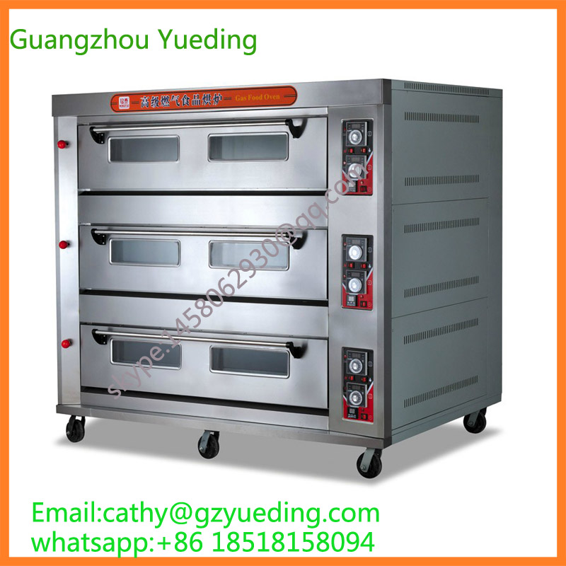 3 Layers 12Pans Industrial Gas Oven_Gas baking equipment_Catering bakery oven цена и фото