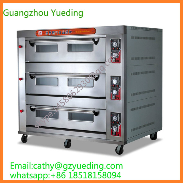 3 Layers 12Pans Industrial Gas Oven_Gas baking equipment_Catering ...
