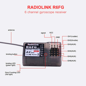 RadioLink R6FG 2.4Ghz 6CH RC Receiver RC Parts For RC6GS RC4GS RC3S RC4G T8FB Transmitter RC Receiver RC Accessories(China)
