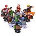 6 Pçs/set Uzumaki Naruto Figura de Ação Anime Pvc 8 cm Legal Hinata Madara Figura Kakashi Brinquedos Clássicos para Crianças ou Coleção brinquedos