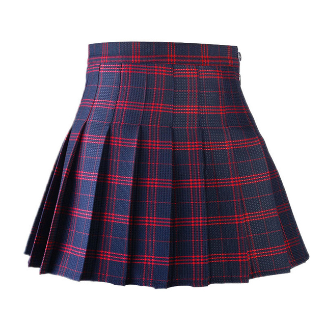 d23d93b618e Korean Style Women Pleated Skirt Summer High Waist Japanese Sweets Plaid  Mini Skirt School Girl Saia