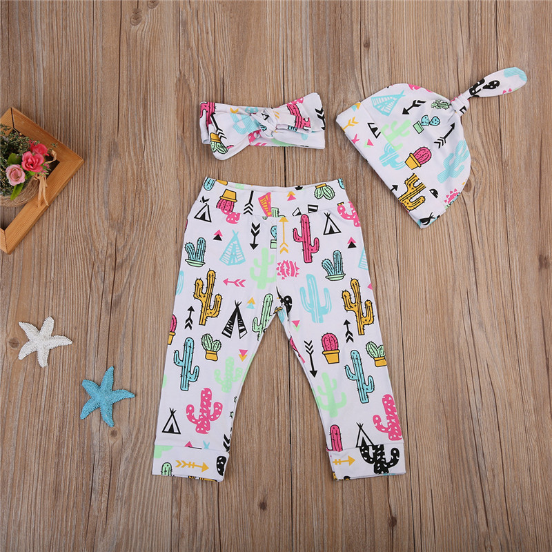 CANIS Newborn Toddler Baby Girls Clothes LongSleeve Jumpsuit Bodysuit+Pants Outfits Set 0-24M