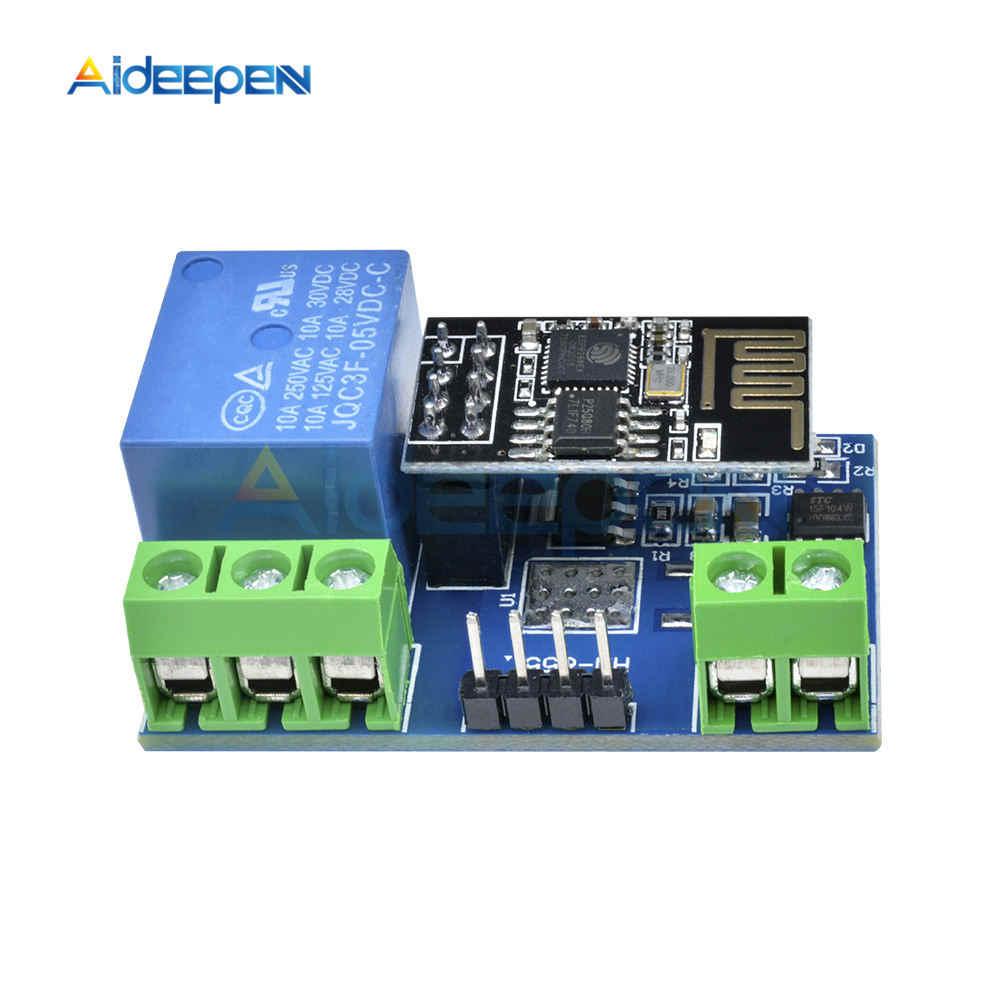 ESP8266 5V moduł przekaźnika WiFi DS18B20 DHT11 rzeczy inteligentny dom zdalnego sterowania przełącznik telefon APP ESP-01 ESP-01S