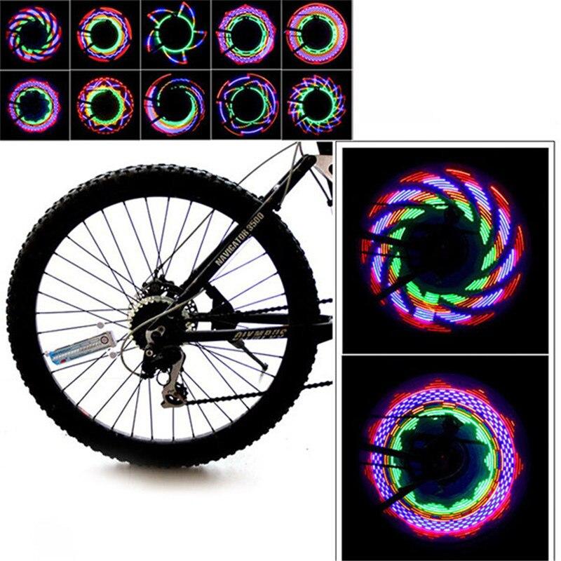 Set moto vélo roue pac hub lampe conduit flash valve à pneus de lumière motion